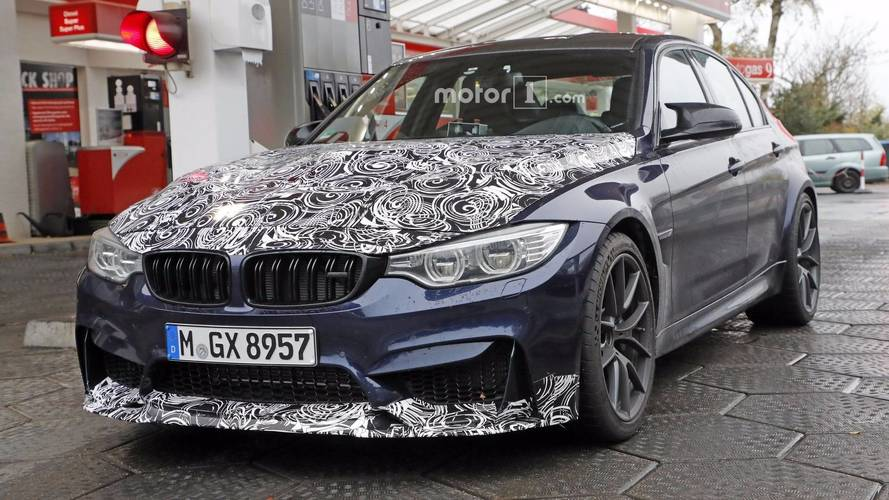 2018 BMW M3 CS caught having a drink in new spy shots