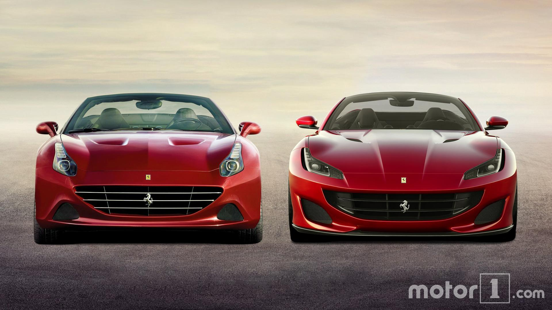 ferrari portofino vs california t see the changes side by side. Black Bedroom Furniture Sets. Home Design Ideas