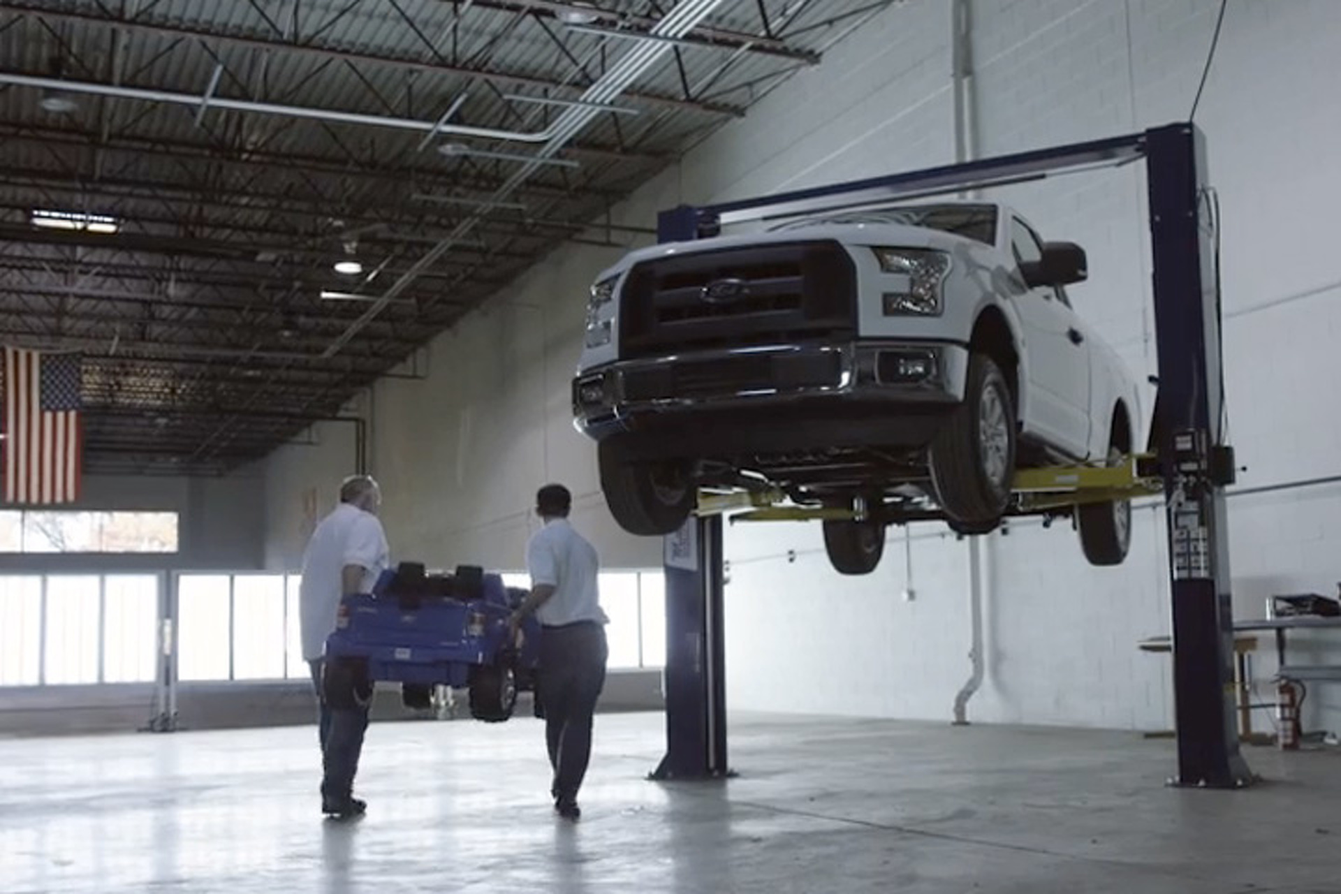 Watch Ford Drop an F-150 on Four Power Wheels F-150s