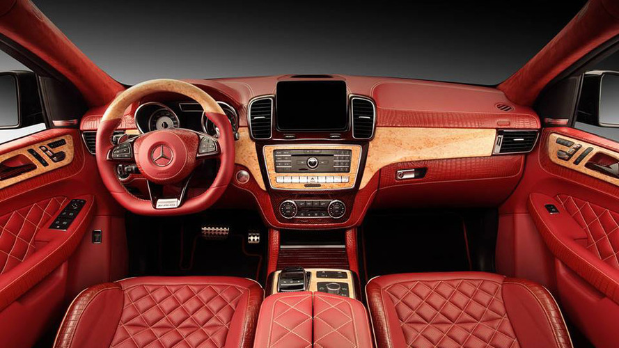 Mercedes-Benz GLE Coupe red crocodile interior by Topcar
