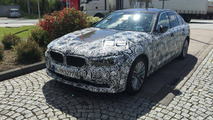 2017 BMW 5 Series spied at gas station in Germany