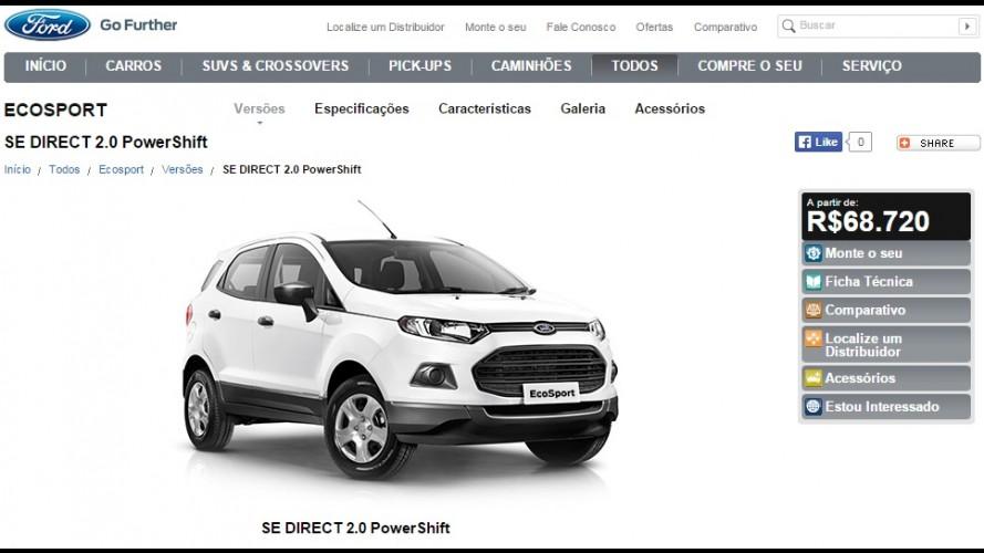 EcoSport SE Direct 2.0 PowerShift chega por R$ 68.720 apenas para frotistas