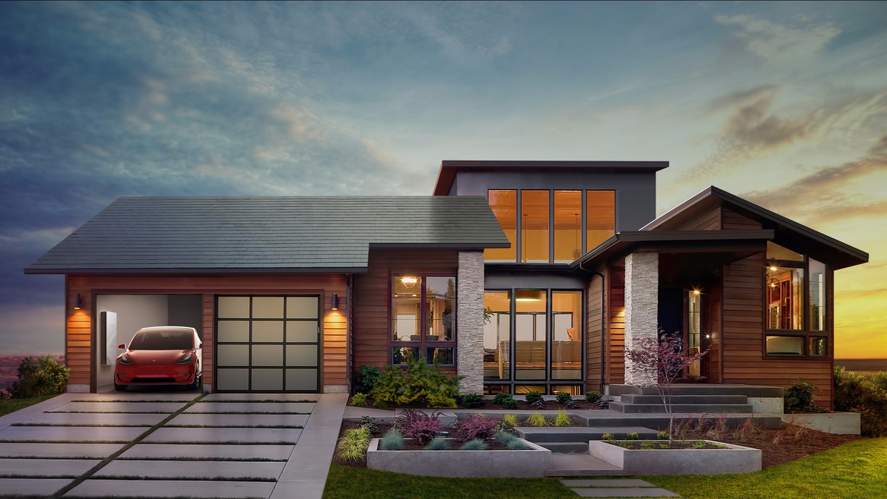Tesla solar panel roof tile