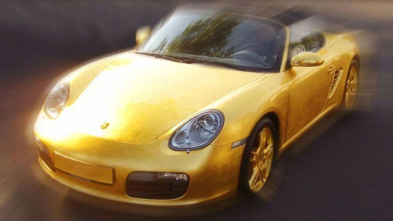 World's First Gold Gilded Porsche Boxter