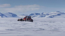 Tractor Girls and team at the South Pole