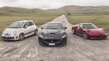 Alfa Romeo 4C, Maserati MC Stradale, Abarth 595: le