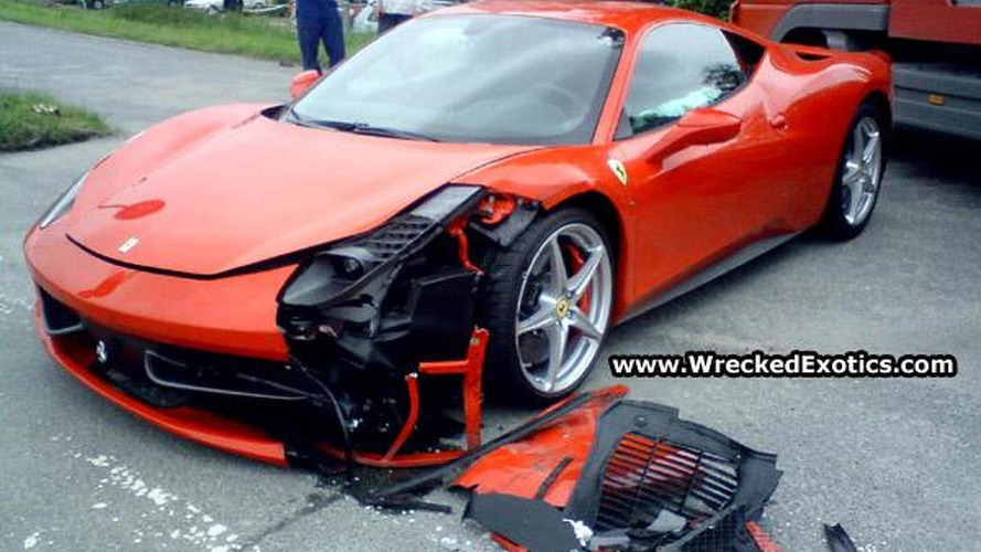 First Ferrari 458 Italia Crash