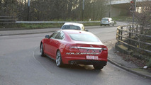 Jaguar XF-R in red spy photos