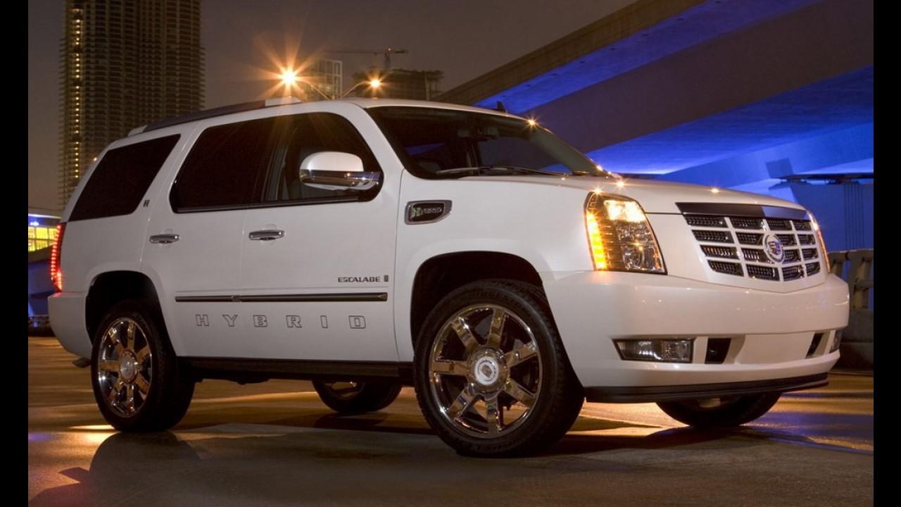 GM cancela nova geração de utilitários híbridos, mas Cadillac Escalade ecológico pode escapar