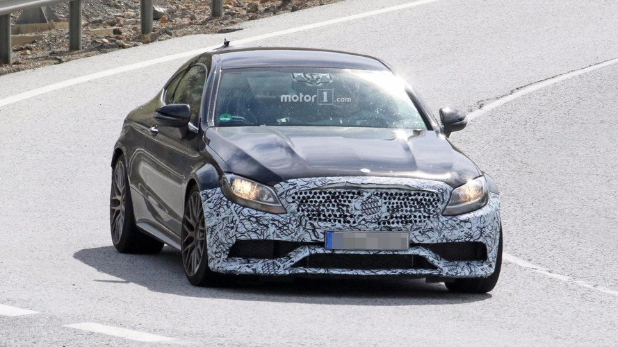 Mercedes-AMG C63 Coupe Spied Hiding Minor Cosmetic Surgery