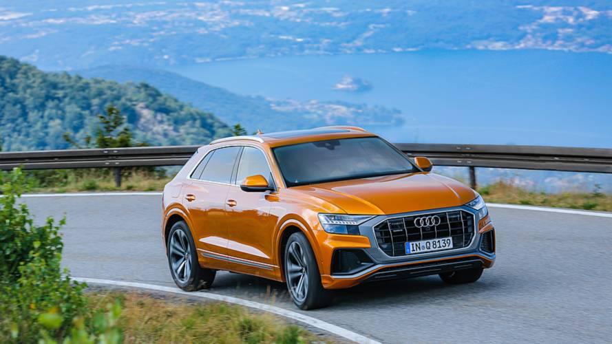 Audi Q8, test drive Lago di Como