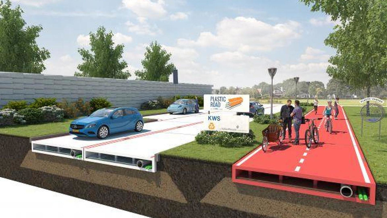 Plastic road rendering