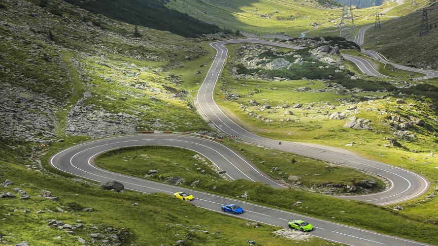 Lamborghini Huracan en el paso de Transfagarasan