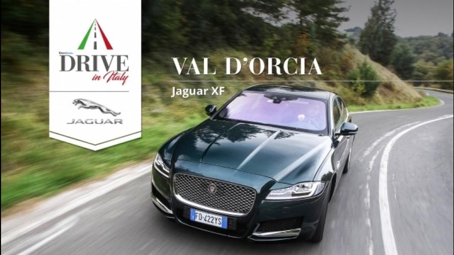 Drive in Italy, in Val d'Orcia con la Jaguar XF [VIDEO]