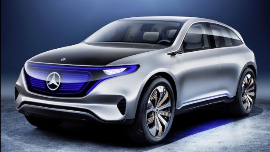 """Salone di Parigi, Mercedes presenta EQ, marchio """"elettrico"""""""