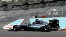 Pascal Wehrlein, Mercedes AMG F1 testing the new 2017 Pirelli tires