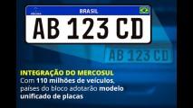 Denatran apresenta novas placas padrão Mercosul que vigoram em 2016