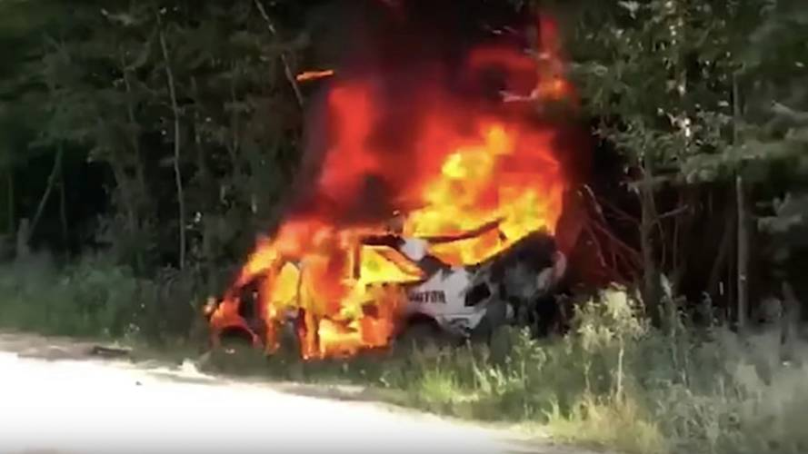 Ken Block's Ford Escort RS Cosworth Crashes And Burns