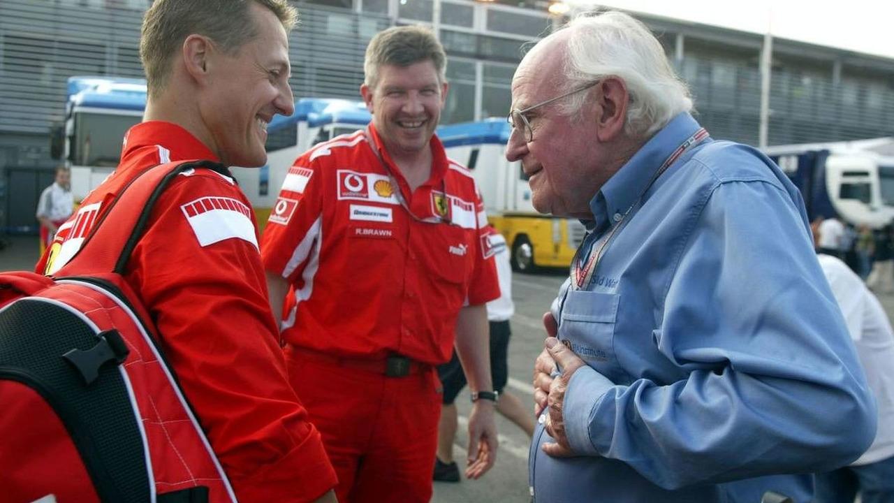 Michael Schumacher, Sid Watkins, FIA Doctor, Medical Delegate, Italian Grand Prix 01.09.2005