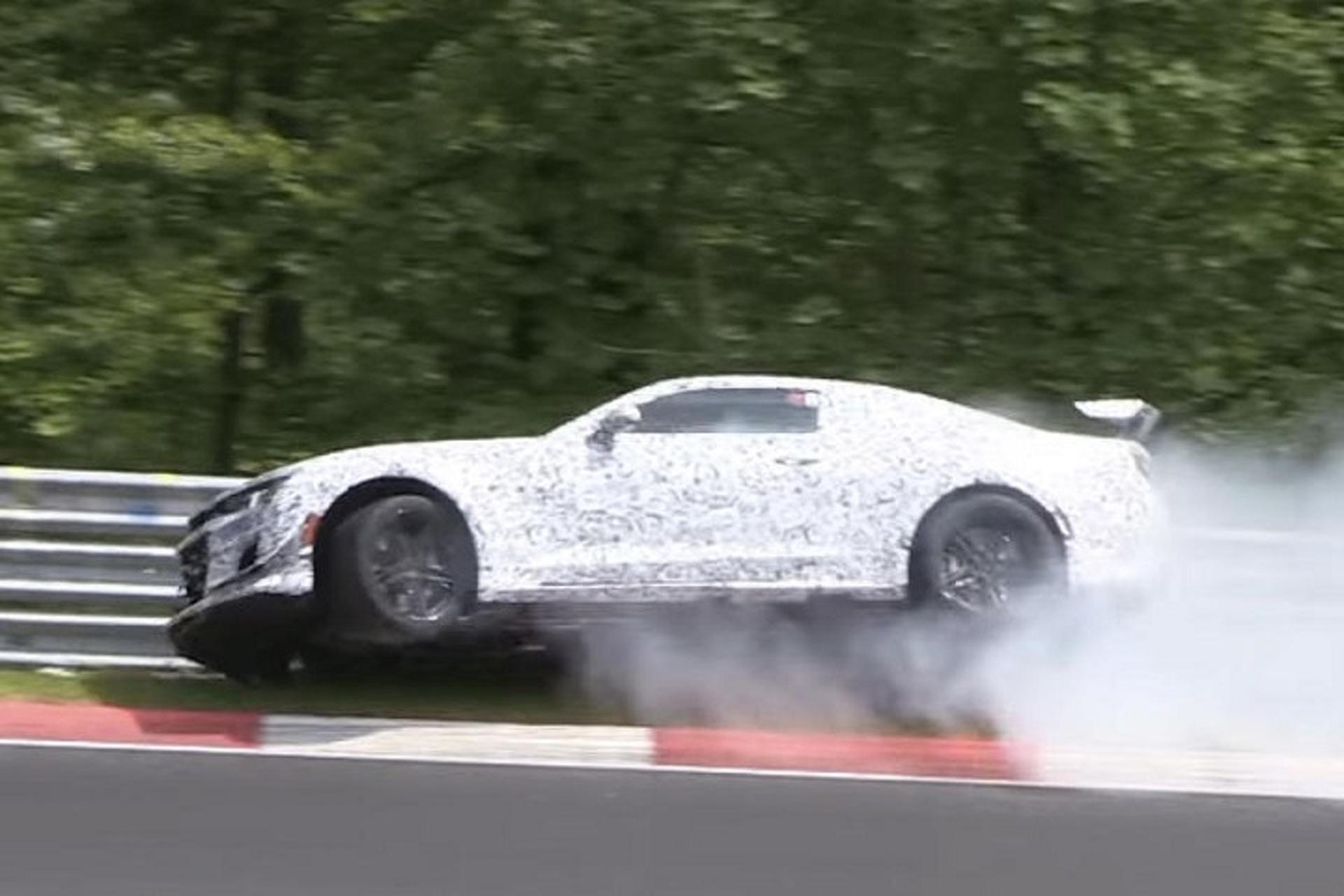 2017 Camaro Z/28 Prototype Hits the Wall Hard at Nürburgring