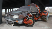 Volkswagen Golf Russian Monster Robot Car