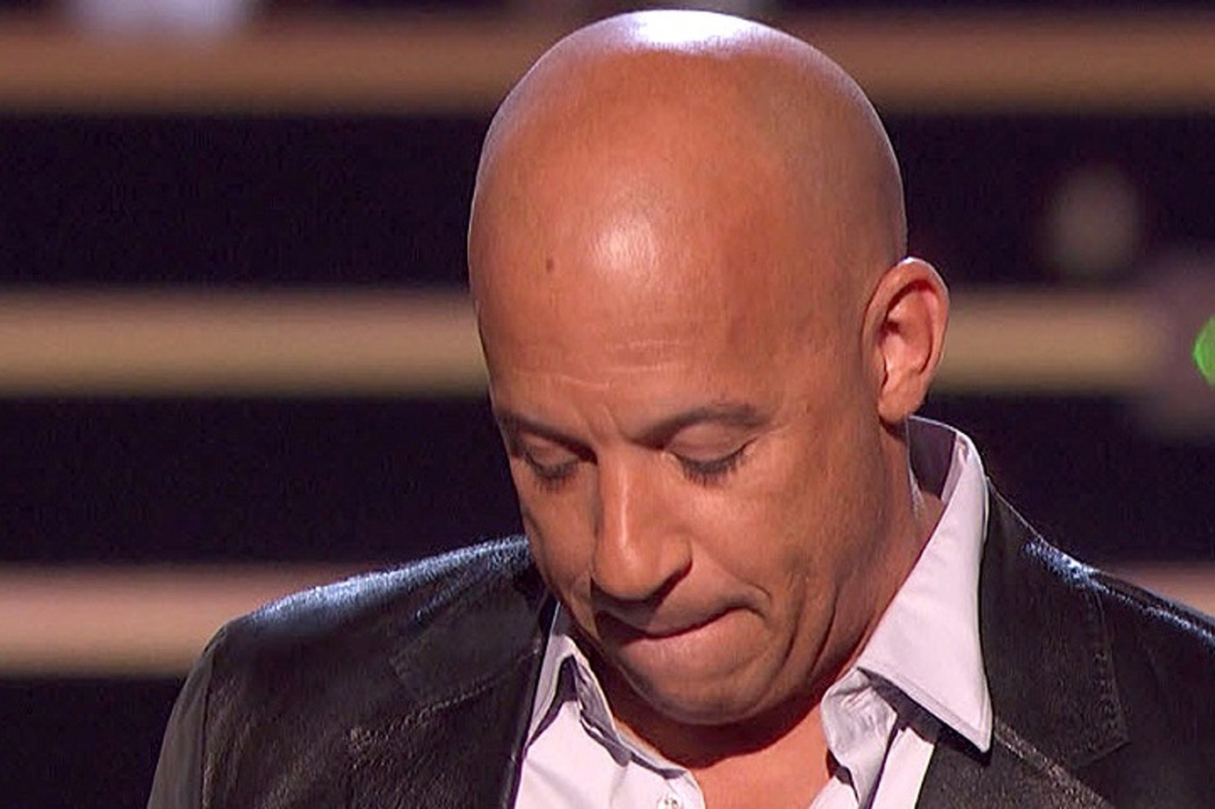 Fast and the Furious Actor Vin Diesel Chokes Up Accepting Award