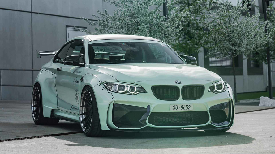 Outlandish Bmw M2 Wears Seriously Wide Body