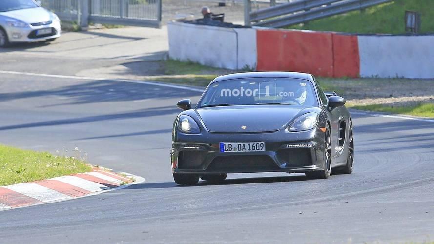 Fotos espía Porsche 718 Cayman GT4 2018