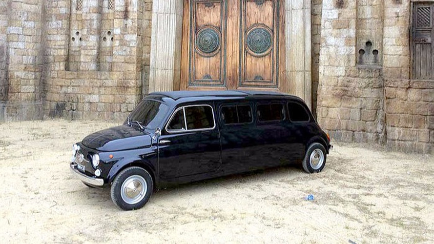 vendre fiat 500 limousine ancienne star de cin ma. Black Bedroom Furniture Sets. Home Design Ideas