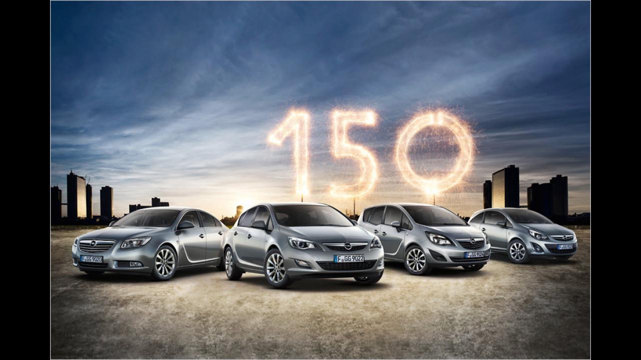 Opel Jubiläumsmodelle ,150 Jahre Opel