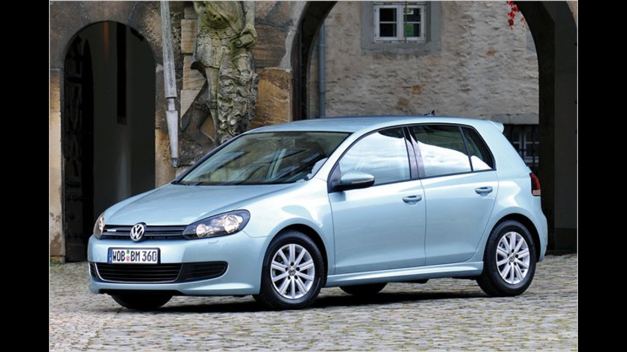 Nun gleichauf mit VW Golf BlueMotion