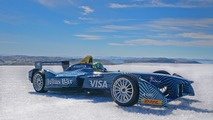 Formula E car on the Arctic Circle