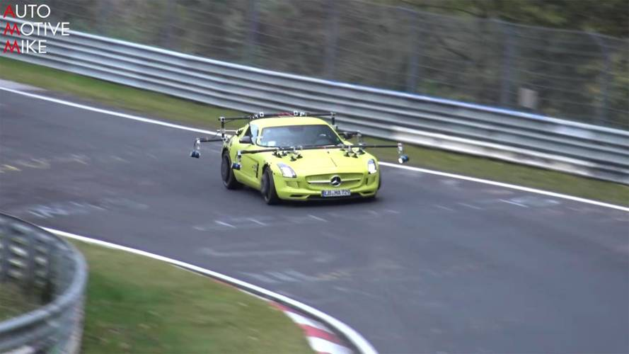 Mercedes-Benz SLS E-Cell Bizarre Test Mule
