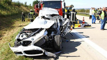 BMW 3-Series Hybrid prototype crash