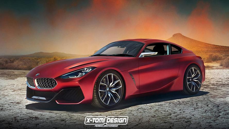 BMW Z4 Coupe tasarım yorumu son derece ateşli görünüyor