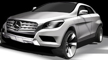 2012 Mercedes-Benz M-Class modified rendering 21.10.2011