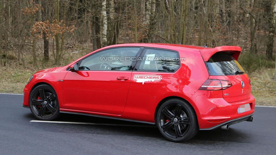 Volkswagen Golf GTI Club Sport spied for the first time on the Nurburgring