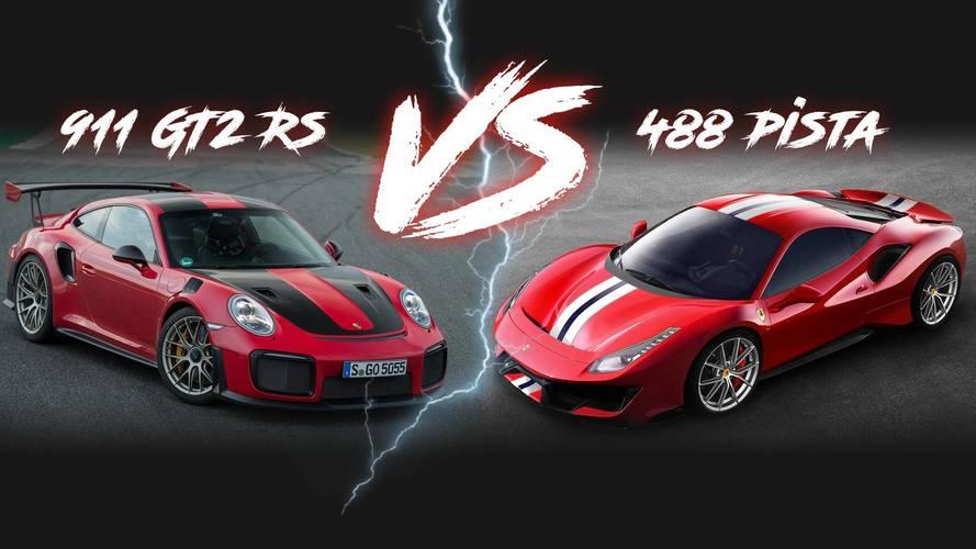 Ferrari 488 Pista Vs. Porsche 911 GT2 RS: Battle By The Numbers