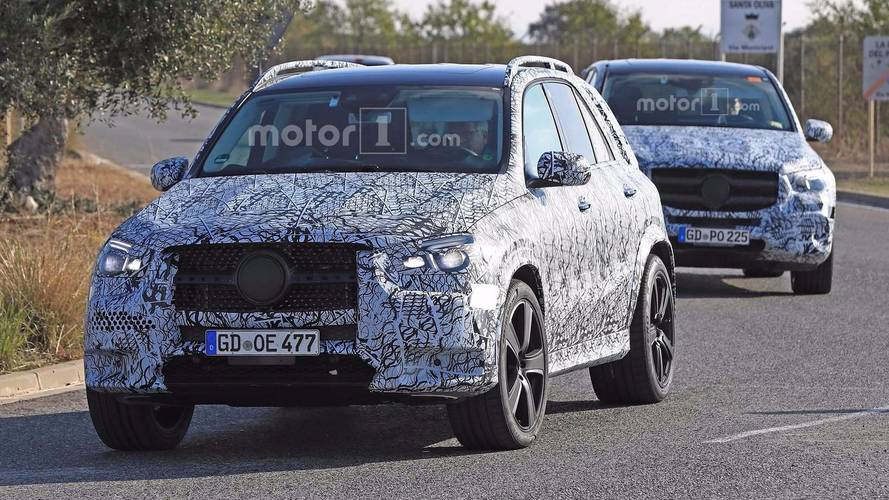 Mercedes-Benz GLE and GLS SUVs spotted testing together