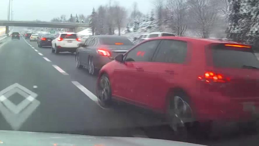 Kötü sürücü Kanada'da kazaya sebep oldu