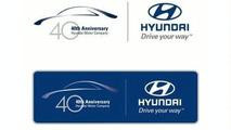 Hyundai 40th anniversary emblem