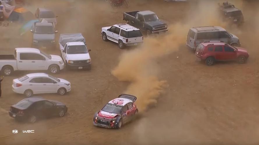 VÍDEO: Piloto erra, entra em estacionamento, mas vence WRC do México