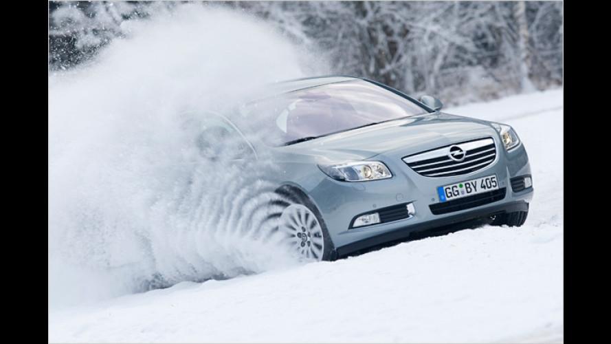 Aufs Glatteis geführt: Mit Opel im Schnee unterwegs