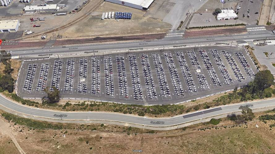 Check Out This Stockpile Of Tesla Model 3 Waiting For Delivery