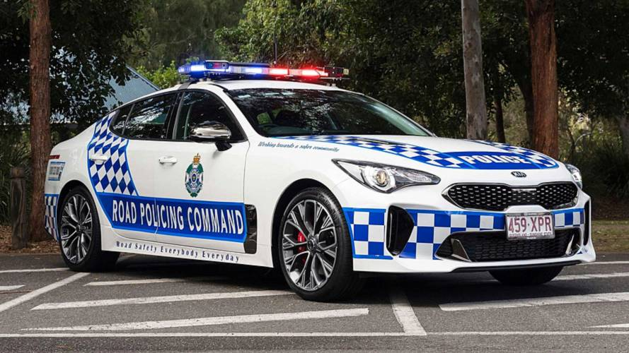Kia Stinger voiture de police en Australie