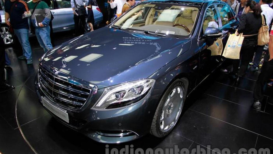 Mercedes-Maybach S600 shows its posh styling in Guangzhou
