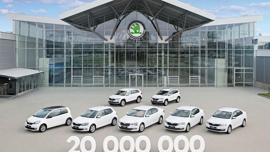 Skoda 20 milliomodik autó