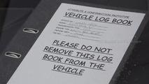 2013 Ford Fiesta facelift prototype spy photo - vehicle log book