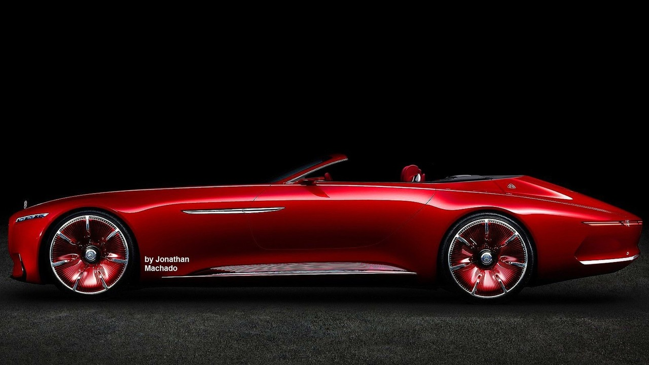 Vision mercedes maybach 6 concept loses roof in digital for Maybach 6 cabriolet