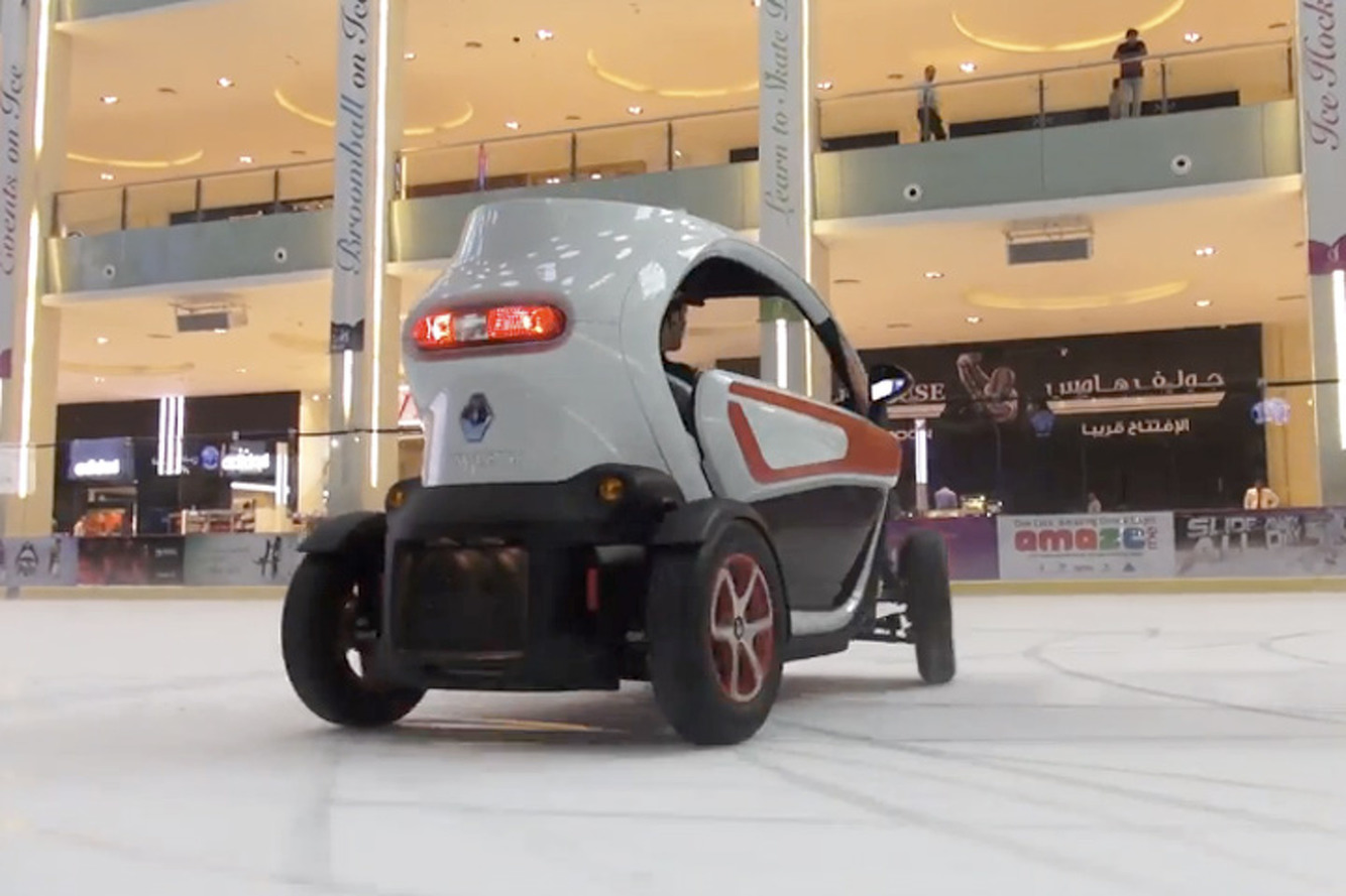 Watch F1 Drivers Race Renaults Through a Dubai Mall